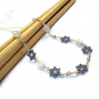 Stardust - Gemstone Beaded Star Necklace