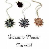 Beading Tutorial - Gazania Flower Necklace