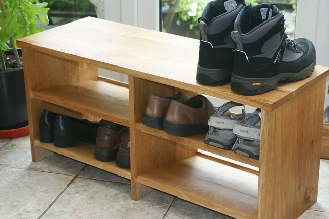 Shoe Bench in Oak