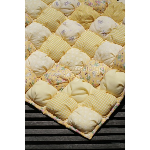 Yellow Puffball Baby Quilt