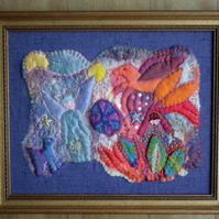 'Angels Bending' Textile Art Picture