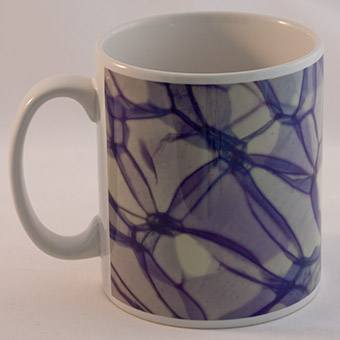 Rose stem section microscope image science mug.