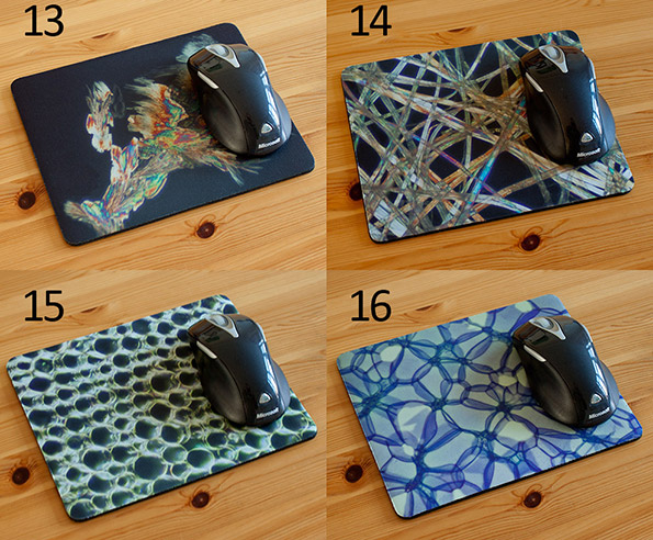 Science Mousemat Mousepad printed with microscope images. Choice!