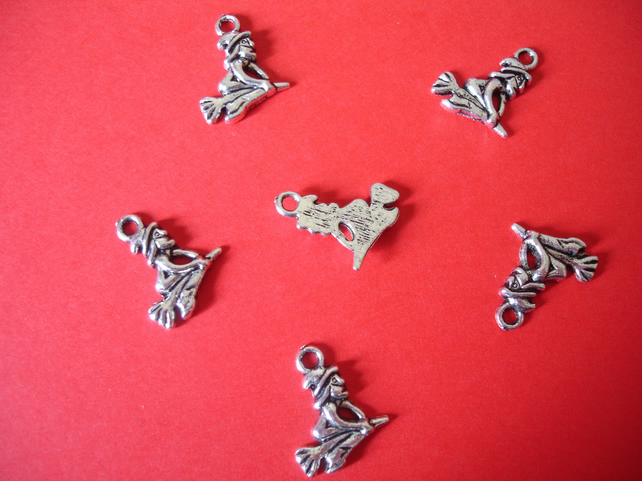 6 x WITCH TIBETIAN SILVER JEWELLERY FAIRY TALE
