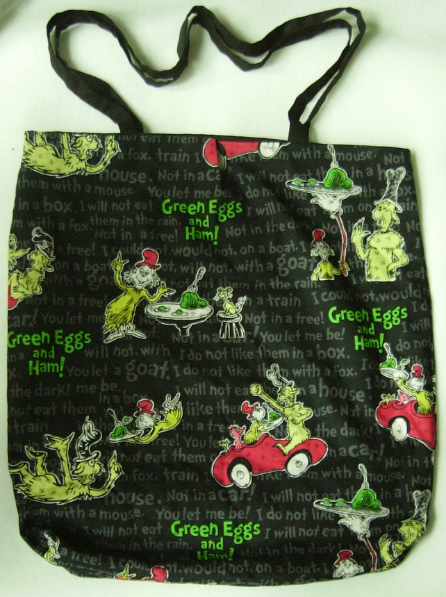 Dr. Seuss Green Eggs And Ham reversible tote bag