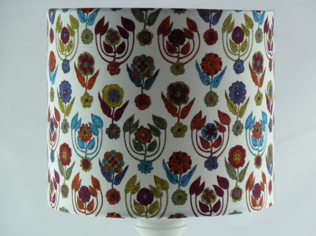 Liberty fabric covered lampshade