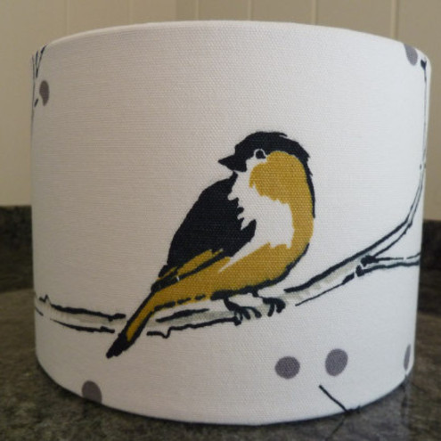 Little Yellow Bird small drum lampshade