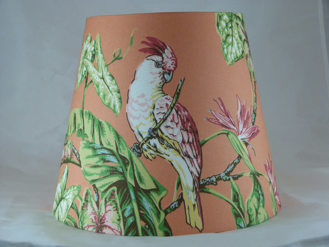 'Cacatou Eos' Handmade Lampshade covered in gorgeous fabric by Jaima Brown