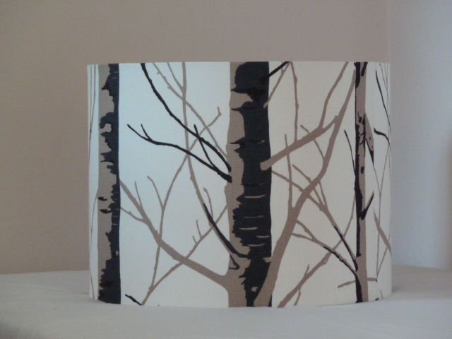 Silver Birch Drum Lampshade 30cm, Handmade in Northumberland