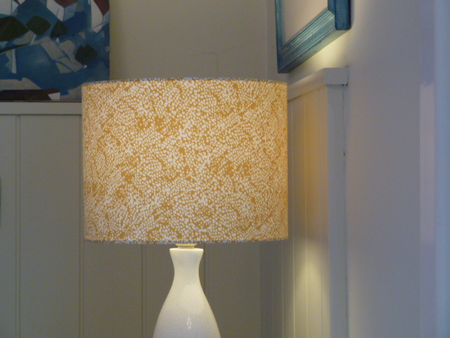 Yellow Base Dotty Drum Lampshade