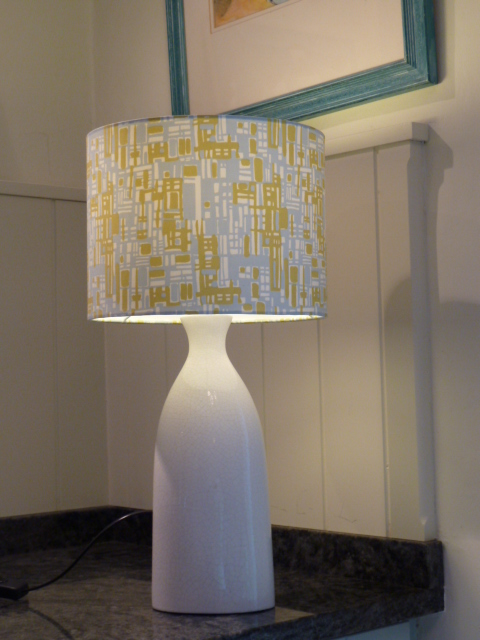 Retro Mini Blocks 25cm Drum Lampshade
