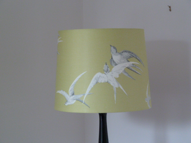 Sanderson 'Swallows' Standard Lampshade in Lime