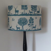 Drum Lampshade 40cm covered in Voyage Country Cairngorms fabric in azure