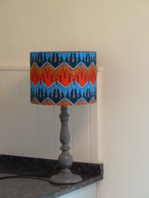 Fringed Shawl Zandra Rhodes Fabric covered Lampshade 30cm diameter