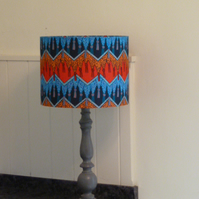 Fringed Shawl Zandra Rhodes Fabric covered Lampshade
