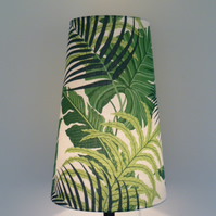 Tall Sanderson's Manila Discovery Fabric covered Lampshade