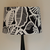 Lampshade for standard lamp or large lamp base. Designer black & white