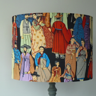 HANBOK  Large Drum Lampshade for Standard Lamp or Large Table Lamp 40cm x 30