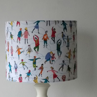 Little Ice Skaters Lampshade 20cm x 16cm