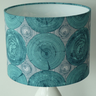 Turquoise Teal Tree Ring Bling Drum Lampshade 25 to 45cm