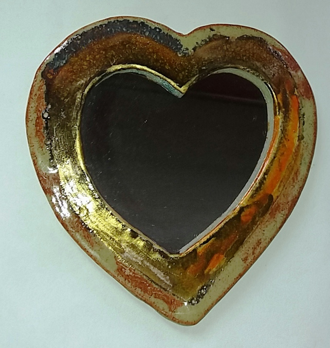 Small Heart shaped wall mirror