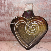 Beautiful heart shaped containers, keep sake boxes with shells and stone stopper