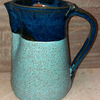Large dual coloured ceramic pitcher