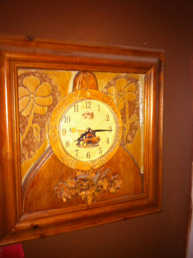 Carved Farmhouse kitchen clock,