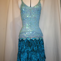 'The Mermaid Dress' a size 8 to 10 party dress with sparkle