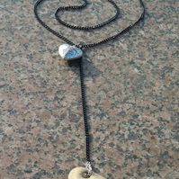 Heart & stone necklace