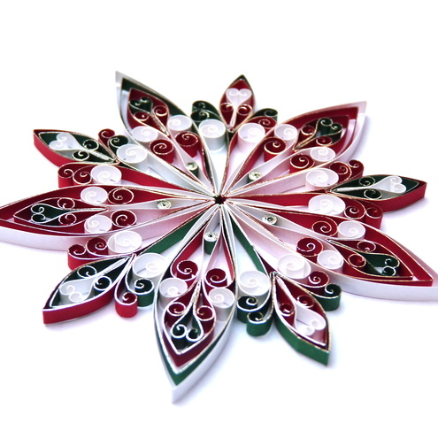 Christmas Decorations, quilled, eco-friendly – ... - Folksy