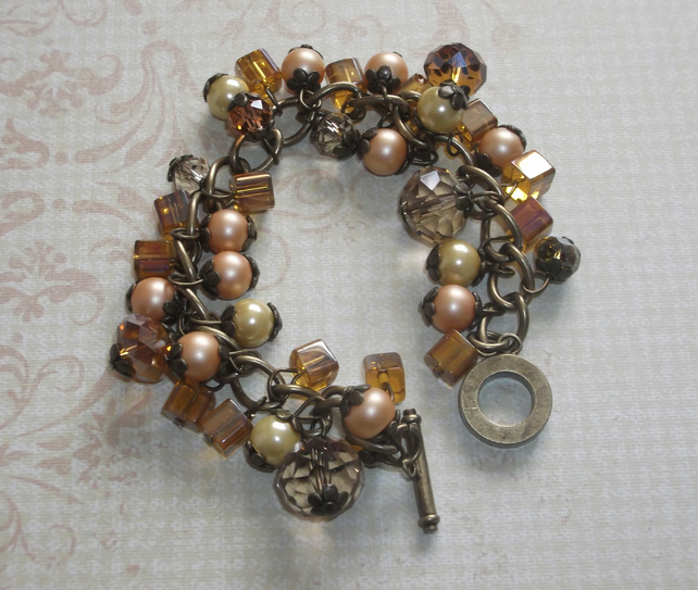 Golden yellow charm bracelet