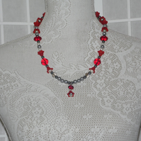 Petal Red Necklace