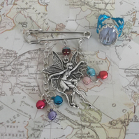 Bella Fairy kilt pin brooch with free gift