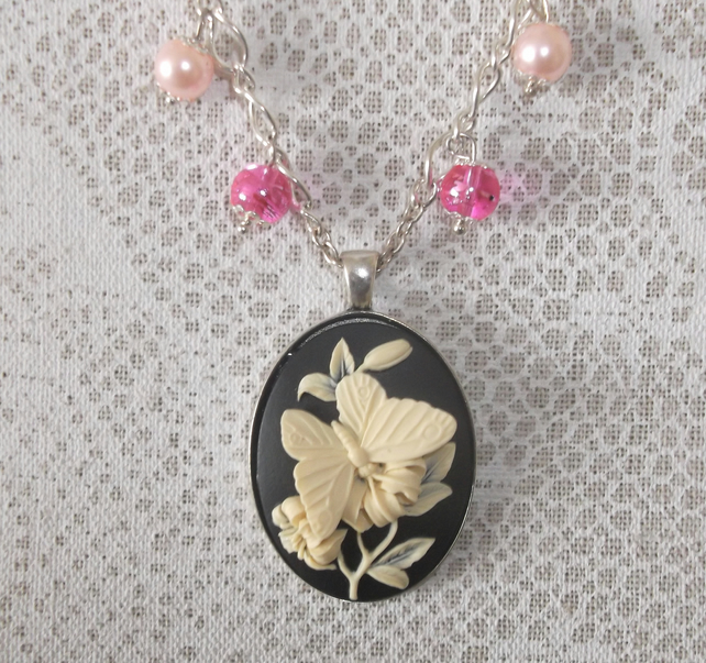 Butterfly Pink Cameo