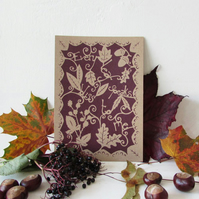 "Papercut ""every leaf"" print"