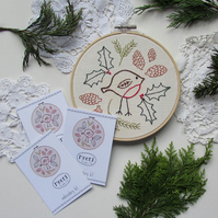 Embroidery kit - robin
