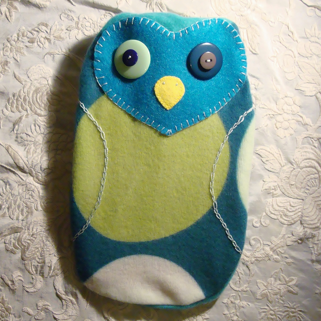 Cosy Owl Hot water Bottle Cover