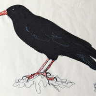 Chough Embroidered Portrait