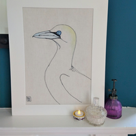 Gannet Embroidered Portrait