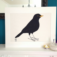 Blackbird Embroidered Portrait