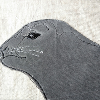 Seal Embroidered Portrait