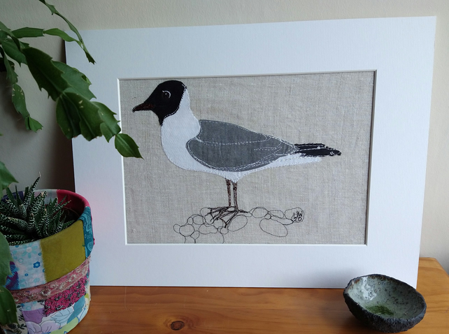 Black Headed Gull Embroidered Portrait