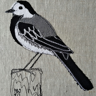 Pied Wagtail Embroidered Portrait