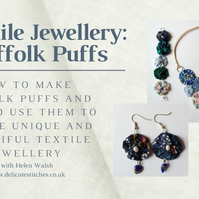 Textile Jewellery: Suffolk Puffs Tutorial Booklet (Digital Download)