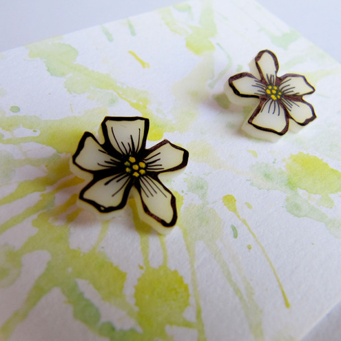 **ONE DAY SALE** Hand Drawn earrings