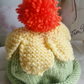 Hand Knitted Baby Daisy Hat 3 to 6 Months