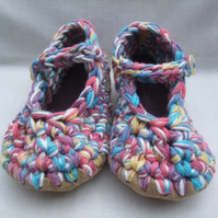 Crochet mary jane shoes baby bootees 12-18 months