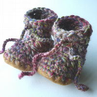 Custom order Wool & leather baby boots and shoes