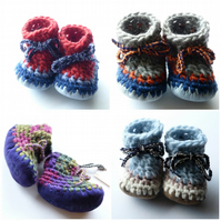Custom baby boots - any colour or size (newborn-size 4)